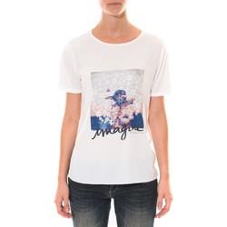 Textiel Dames T-shirts korte mouwen Coquelicot Tee shirt   Blanc 16426 Wit