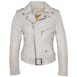 Textiel Dames Leren jas / kunstleren jas Schott PERFECTO FEMME  OFF WHITE LCW8600 Wit