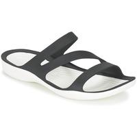 Schoenen Dames Sandalen / Open schoenen Crocs SWIFTWATER SANDAL W Zwart / Wit