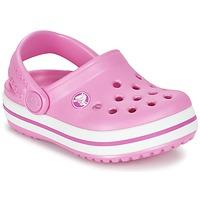 Schoenen Meisjes Klompen Crocs Crocband Clog Kids Roze
