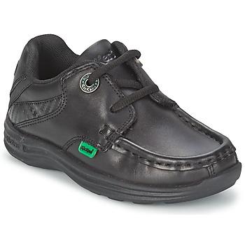 Schoenen Kinderen Bootschoenen Kickers REASON LACE Zwart