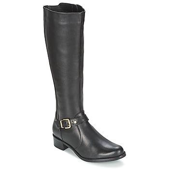 Schoenen Dames Hoge laarzen Dune London TIPPLER Zwart
