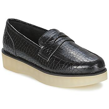 Schoenen Dames Mocassins F-Troupe Penny Loafer Zwart