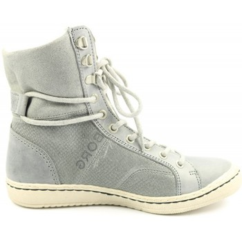 Schoenen Dames Low boots Björn Borg DAMES hoge veterschoen   WENDY HIGH SCALE FUR grijs grijs