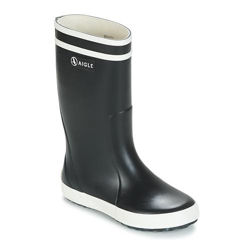 Schoenen Kinderen Regenlaarzen Aigle LOLLY POP Marine / Wit