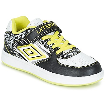 Schoenen Jongens Lage sneakers Umbro COGAN Zwart / Wit / Geel