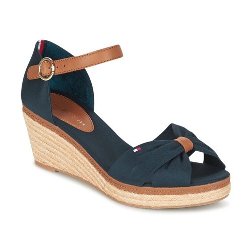 Schoenen Dames Sandalen / Open schoenen Tommy Hilfiger ELBA 40D Marine / Bruin