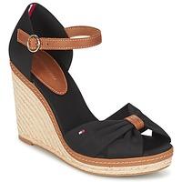 Schoenen Dames Sandalen / Open schoenen Tommy Hilfiger ELENA 56D Zwart / Bruin