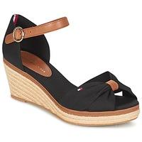 Schoenen Dames Sandalen / Open schoenen Tommy Hilfiger ELBA 40D Zwart / Bruin