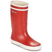 Schoenen Kinderen Regenlaarzen Aigle LOLLY POP Rood / Wit