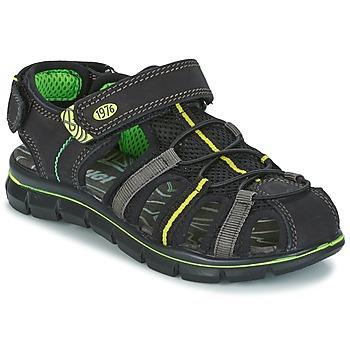 Schoenen Jongens Sandalen / Open schoenen Primigi TEVEZ Zwart / Groen