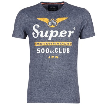 Textiel Heren T-shirts korte mouwen Superdry 500 CLUB MOTORRADER Grijs
