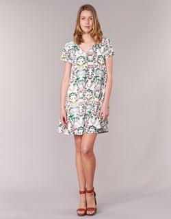 Textiel Dames Korte jurken Compania Fantastica EPINETA Wit / Groen / Roze