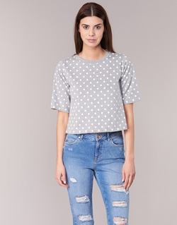 Textiel Dames T-shirts korte mouwen Compania Fantastica EPOITATI Grijs / Wit