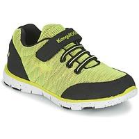 Schoenen Jongens Lage sneakers Kangaroos NURI ZEBRA Groen / Zwart