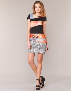 Textiel Dames Korte jurken Smash SERPENS Zwart / Oranje / Grijs