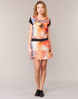 Textiel Dames Korte jurken Smash CITRON Oranje / Zwart