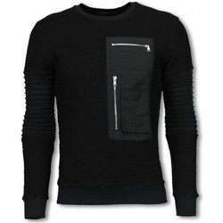 Textiel Heren Sweaters / Sweatshirts Justing Ribbel Arm Met Kevlar Pocket - Sweater - Zwart
