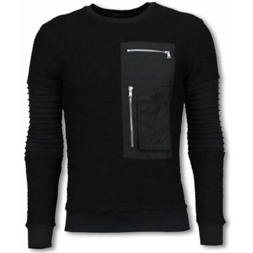 Textiel Heren Sweaters / Sweatshirts John H Ribbel Arm met Kevlar Pocket - Sweater Zwart