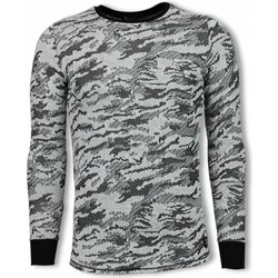 Textiel Heren Sweaters / Sweatshirts Tony Backer Army Look Shirt - Long Fit Sweater - Zwart