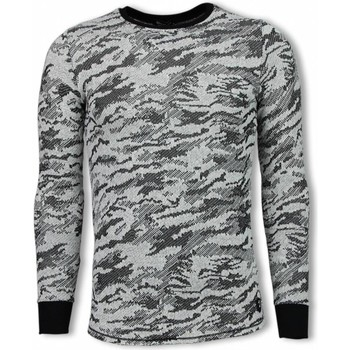Textiel Heren Sweaters / Sweatshirts Uniplay Army Look Shirt - Long Fit Sweater 38