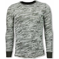 Textiel Heren Sweaters / Sweatshirts Uniplay Army Look Shirt - Long Fit Sweater 25