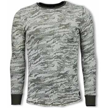 Textiel Heren Sweaters / Sweatshirts Tony Backer Army Look Shirt - Long Fit Sweater - Groen