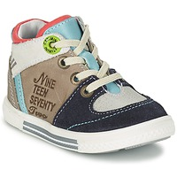 Schoenen Jongens Hoge sneakers Catimini PIMENT Grijs / Turquoize