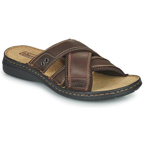 Schoenen Heren Leren slippers TBS BENAIX Bruin