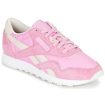 Schoenen Dames Lage sneakers Reebok Classic CL NYLON X FACE Roze