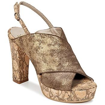 Schoenen Dames Leren slippers Now PALISSA Brons