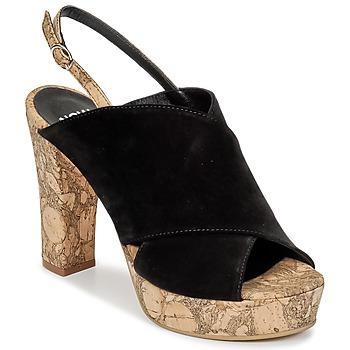 Schoenen Dames Leren slippers Now PAPIRON Zwart