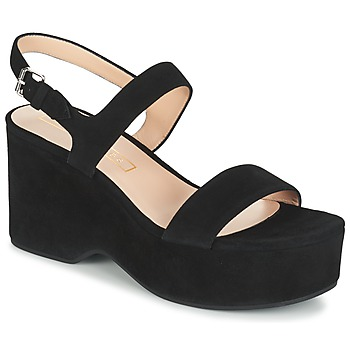 Schoenen Dames Sandalen / Open schoenen Marc Jacobs LILLYS WEDGE Zwart