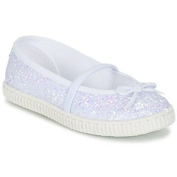 Schoenen Meisjes Ballerina's Chipie SALSABA Glitter / Wit