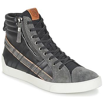 Schoenen Heren Hoge sneakers Diesel D-STRING PLUS Zwart / Grijs