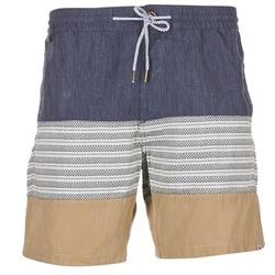Textiel Heren Korte broeken / Bermuda's Volcom THREEZY JAMMER Marine / Beige / Grijs