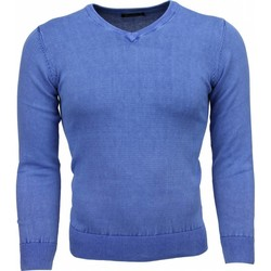Textiel Heren Truien Bruno Leoni Casual Trui - Exclusive Blanco V-Hals 19
