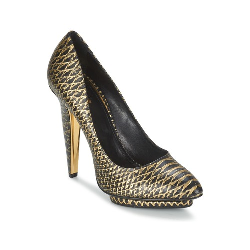 Schoenen Dames pumps Roberto Cavalli YDS622-UC168-D0007 Zwart / Goud