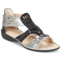 Schoenen Dames Sandalen / Open schoenen Dorking ODA Zwart / Zilver