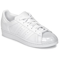Schoenen Dames Lage sneakers adidas Originals SUPERSTAR GLOSSY TO Wit
