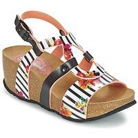 Schoenen Dames Sandalen / Open schoenen Desigual BIO 9 FLORES Zwart / Wit / Fleur
