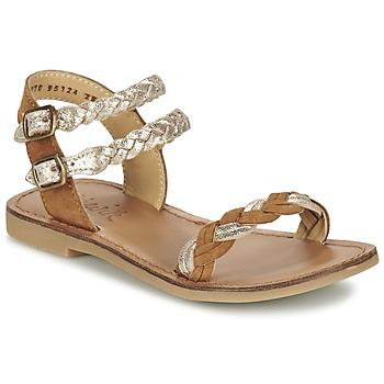 Schoenen Meisjes Sandalen / Open schoenen Shwik LAZAR WOWO Camel / Goud