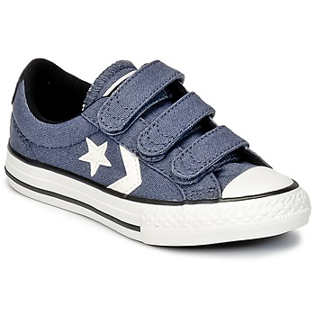 Schoenen Jongens Lage sneakers Converse STAR PLAYER 3V VINTAGE CANVAS OX Blauw / Wit