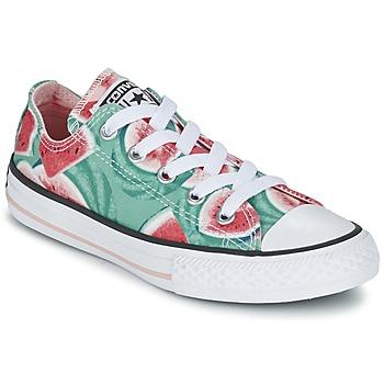 Schoenen Meisjes Lage sneakers Converse CHUCK TAYLOR ALL STAR WATERMELON OX Groen / Rood / Wit