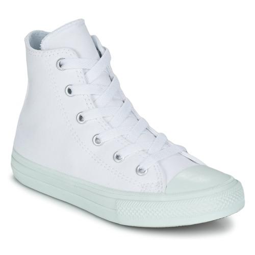 Schoenen Meisjes Hoge sneakers Converse CHUCK TAYLOR ALL STAR II PASTEL SEASONAL TD HI Wit / Blauw