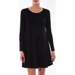 Textiel Dames Korte jurken Coquelicot Robe  Col Rond Noir 16202 Zwart