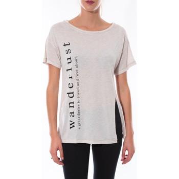 Textiel Dames T-shirts korte mouwen Coquelicot T-shirt  Beige 16406 Beige
