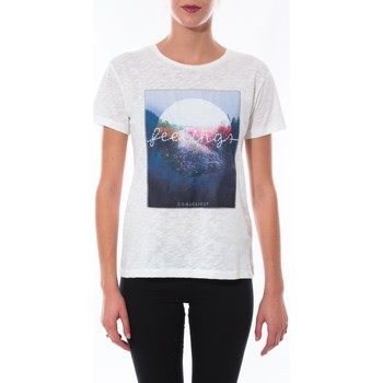 Textiel Dames T-shirts korte mouwen Coquelicot T-shirt  Blanc 16423 Wit