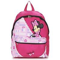 Tassen Meisjes Rugzakken Disney MINNIE SCRATCH DOTS SAC A DOS BORNE Rood / Roze