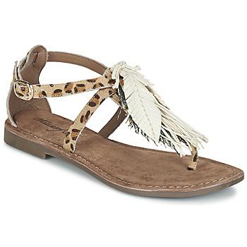 Schoenen Dames Sandalen / Open schoenen Metamorf'Ose ZABOUCHE Bruin / Wit